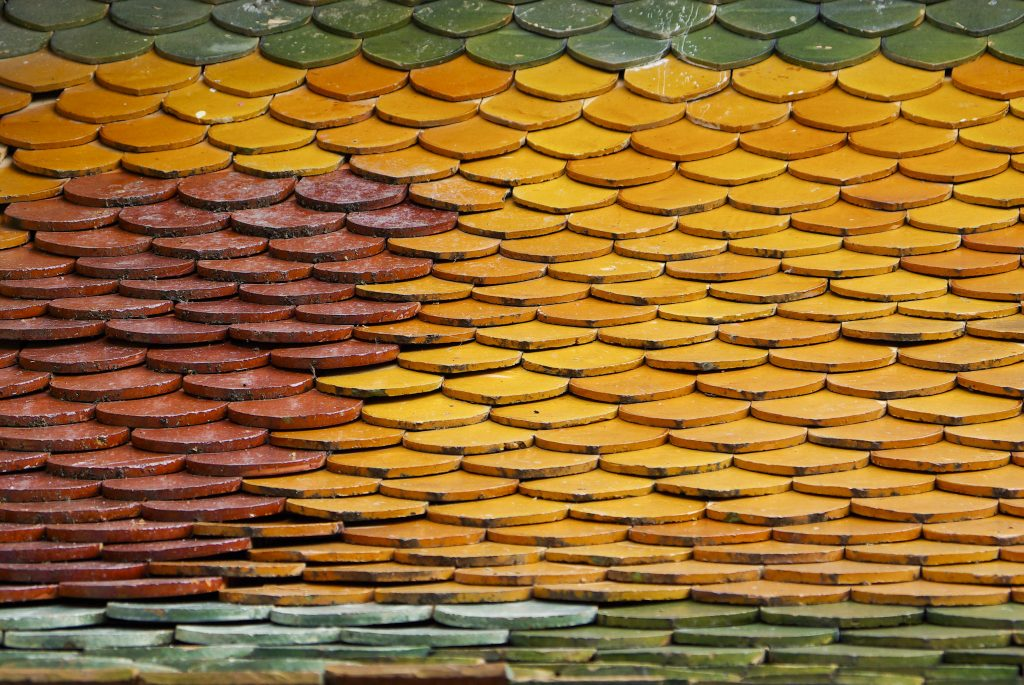 color roof tiles texture