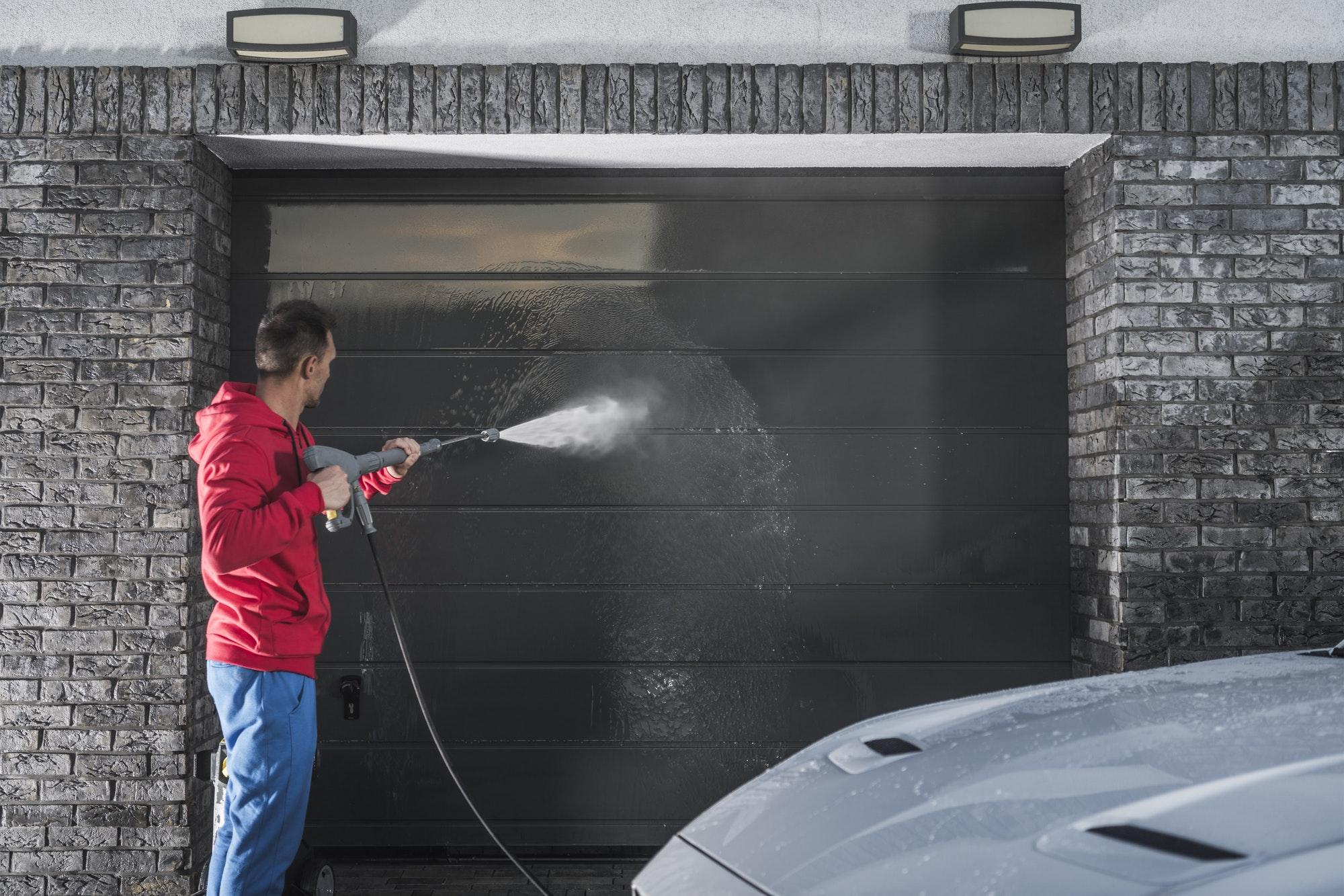 Garage Door Pressure Wash